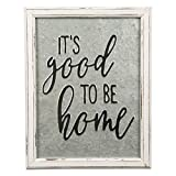 Cheap Brownlow Gifts Rustic Embossed Metal and Wood Sign, 14″ x 18″, Good to Be Home