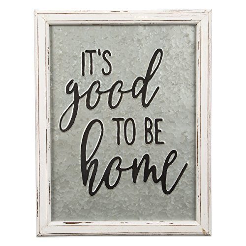 Brownlow Gifts Rustic Embossed Metal and Wood Sign, 14