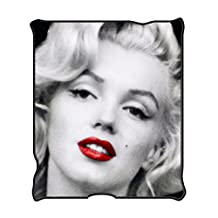 "Silver Buffalo Marilyn Monroe MR1621 Red Lips Fleece Throw Blanket, 50 x 60"""