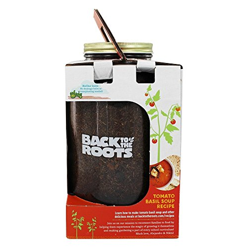 Back to the Roots Self-Watering Tomato Planter, Grow organic cherry tomatoes year 'round, Windowsill Grow Kit, Top Gardening Gift, Holiday Gift, Teacher Gift, Science Gift, & Family Project