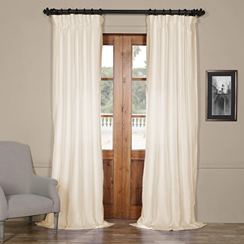 Half Price Drapes LN-XS1706-96 French Linen Curtain, 50 x 96, Ancient Ivory