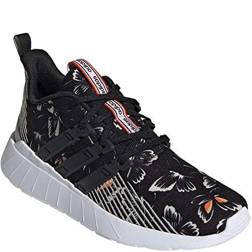 adidas Women's Questar Flow Running Shoe, Black/Black/Grey, 8.5 M US