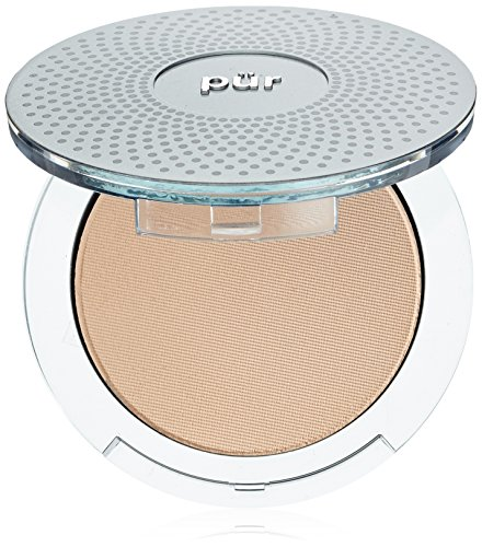 Animal Free Makeup Brush Powder - PÜR 4-in-1 Pressed Mineral Makeup Foundation with Skincare Ingredients in Light, 0.28 Ounce