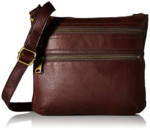 (Fossil Explorer Leather Crossbody Bag,)