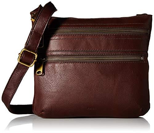 Fossil Explorer Leather Crossbody Bag, espresso