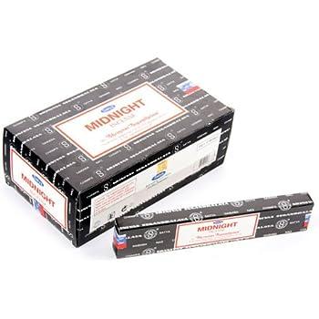 Satya Nag Champa Midnight Incense Sticks - Box 12 Packs by Satya