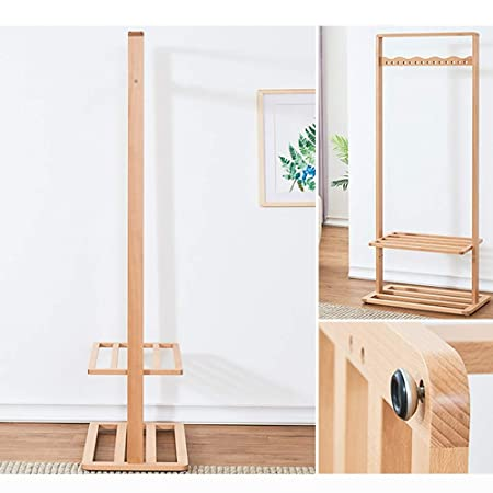 Amazon.com: XF Coat Racks Coat Rack Wood Hanger Floor Home ...