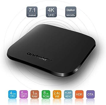 Android TV Box 7.1-1GB RAM + 8GB ROM S905W CPU Mini Smart TV Box 4K HD / 3D / Amlogic Quad Core 64Bit / 2.4Ghz WiFi / LAN10 / 100M Media Player: Amazon.es: Electrónica