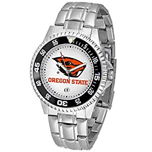 NCAA Oregon State Beavers Men's Competitor Watch with Stainless Steel Band