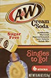 A&W Cream Soda Singles To Go Powder Packets - Sugar Free, Non-Carbonated Cream Soda Flavored Water Drink Mix (12 Boxes with 6 Packets Each - 72 Total Servings)