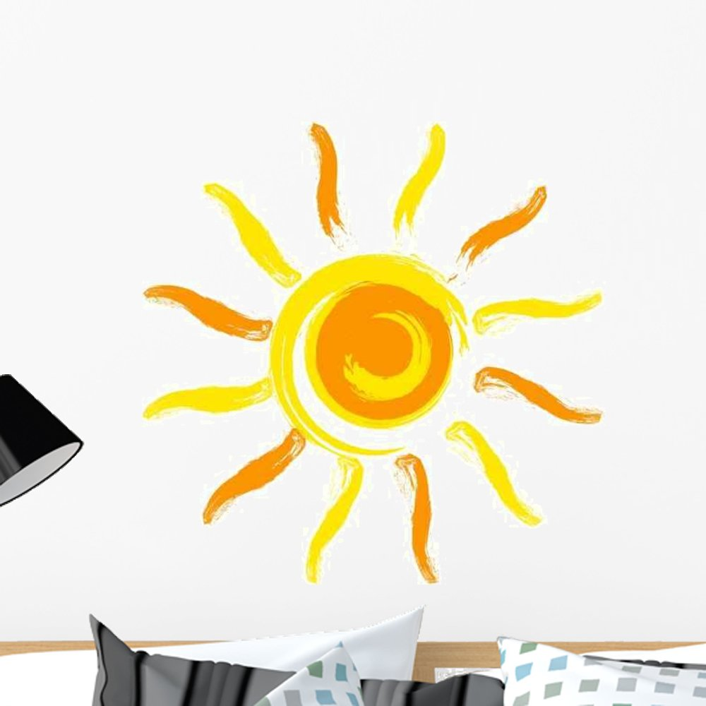 Vector Sun Wall Decal Wallmonkeys Peel and Stick Graphic (24 in W x 24 in H) WM106263