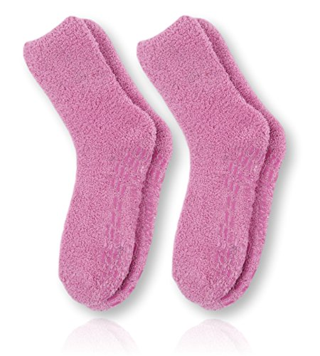 - Pembrook Non Skid/Slip Socks – (2-Pack – Pink) – Hospital - Fuzzy Slipper Socks – Great for adults, men, women. Designed for medical hospital patients but great for everyone