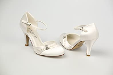 Westerleigh Sophie Ivory Round Toe Wedding Shoes Size 5