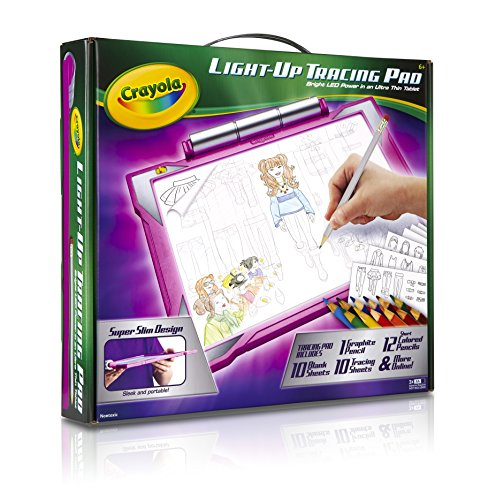 Place Pads Boxes - Crayola Light-up Tracing Pad Pink, Coloring Board for Kids, Gift, Toys for Girls, Ages 6, 7, 8, 9,10