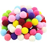 Pompoms Craft Assorted Colors Acrylic Hobby Supplies 1 Inch Round Pack of 250