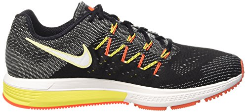 Nike Air Zoom Vomero 10 Scarpe da Ginnastica, Uomo Nero (Black/White-sail-total Crimson-opti Yellow)