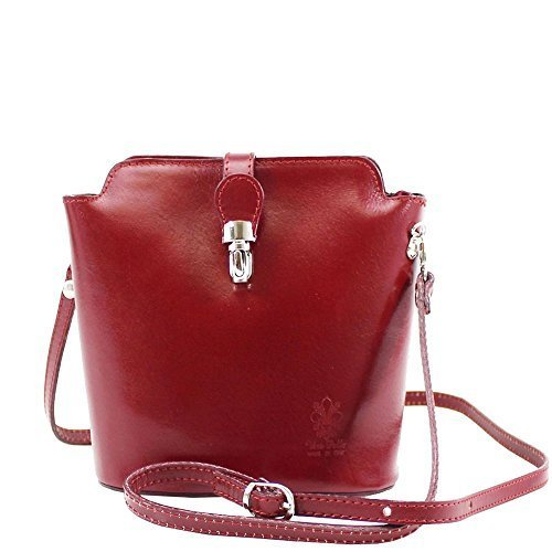 Body Bag Black Cross Pelle Vera Burgundy Women CwFt0TWq