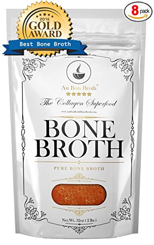 Pure Bone Broth - Organic, Grassfed, NO Sodium, NO Vegetables (Delicious Beef/Chicken/Turkey Blend) Frozen 32oz Bags, 8 Count (30 day supply/1 cup per day), Soup Broth Not Powder, Non-GMO
