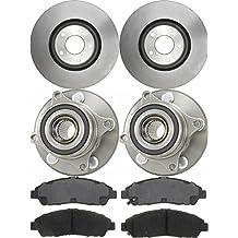 Prime Choice Auto Parts RHBBK0335 Set of Front Brake Rotors Ceramic Pads and Hub Bearing Assemblies