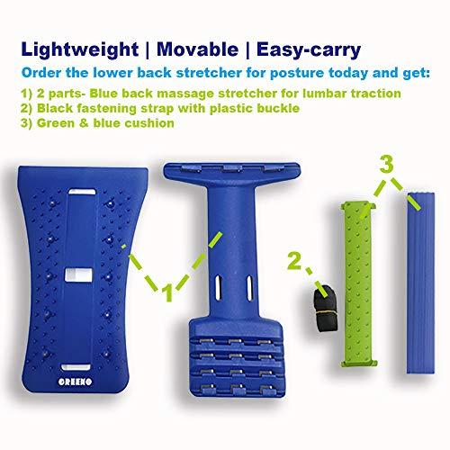 GREENO Lower Back Stretcher for Back Pain Relief, 4 Adjustment Multi Level Lumbar Support, Lumbar Support for Car & Chair & Bed, Lower Back Stretcher Decompressor & Kalkal & Refresh & Soliback
