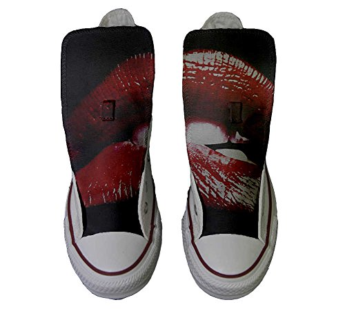 Converse All Star Hi Customized personalisierte Schuhe (Handwerk Schuhe) Lips
