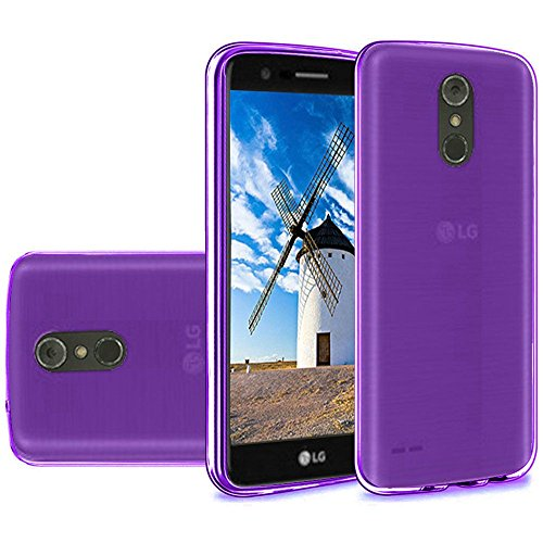 Bemz Slim Soft TPU Case and Atom Cloth Compatible with LG Stylo 4+ Plus/LG Stylo 4 - Purple