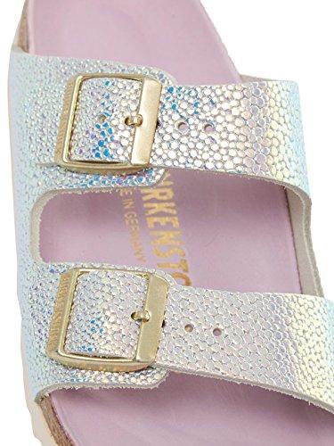BIRKENSTOCK Arizona Ombre Pearls Silber Orchid Glattleder