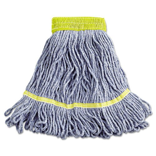 UNISAN Super Loop Wet Mop Heads, Cotton/Synthetic, Small Size, Blue - Includes 12 mop heads. (Unisan Super Loop Wet Mop Head)