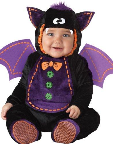 InCharacter Costumes Baby Bat Costume, Black/Purple, Large -