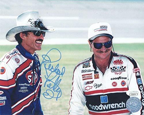RICHARD PETTY HAND SIGNED 8x10 PHOTO AMAZING POSE+DALE EARNHARDT SR - JSA Certified - Autographed NASCAR Photos