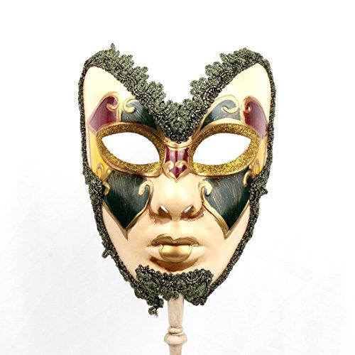 Full Venetian Mask Mardi Gras Mask Halloween Costume Gorgeous Mask for -