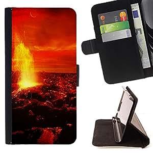 BullDog Case - FOR/Samsung Galaxy Note 3 III / - / Space Planet Galaxy Stars 10 /- Monedero de cuero de la PU Llevar cubierta de la caja con el ID Credit Card Slots Flip funda de cuer