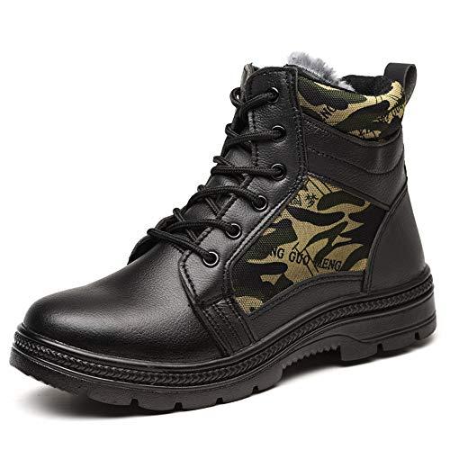 Winter for Multicoloured TieZhangLu Cap Safety Safety Boots Men Shoes Steel amp;fur Toe SdvxqnvtZ
