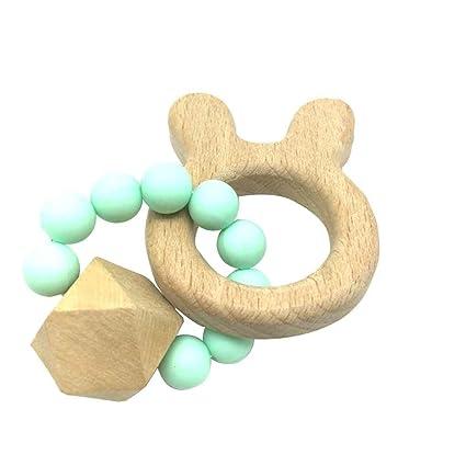 Topker Animal en forma de cuentas de madera mordedor bebé ...