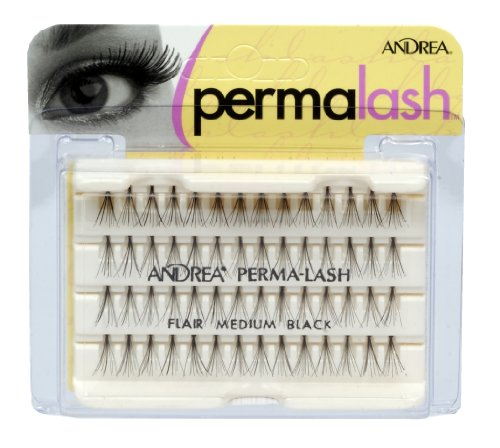 Andrea Permalash Individual Lashes - Flair Medium Black, 56-Count (Pack of 4)