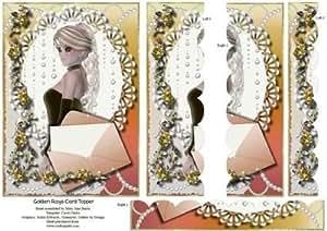 Golden rayos tarjeta Topper por Mary Jane Harris