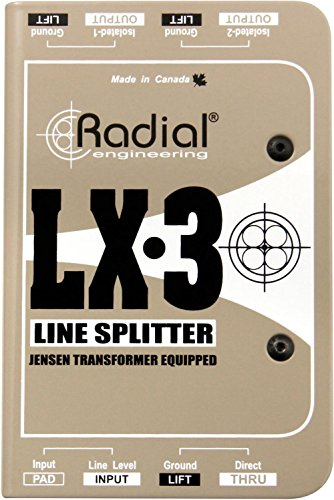Radial LX3 3-channel Balanced Line Splitter w/Isolation by Radial