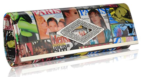 UK 50 White Gorgeous Magazine Clutch SAVE Bag FREE DELIVERY ZzvqXa