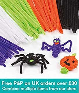 baker ross halloween pipe cleaners for children for crafts pack of 120