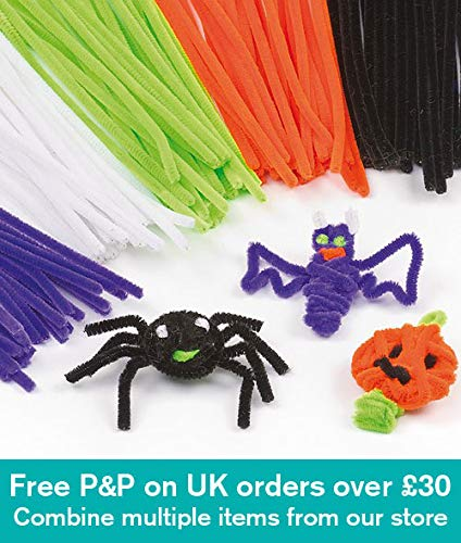 Baker Ross Halloween Pipe Cleaners for Children for Crafts (Pack of 120) ()