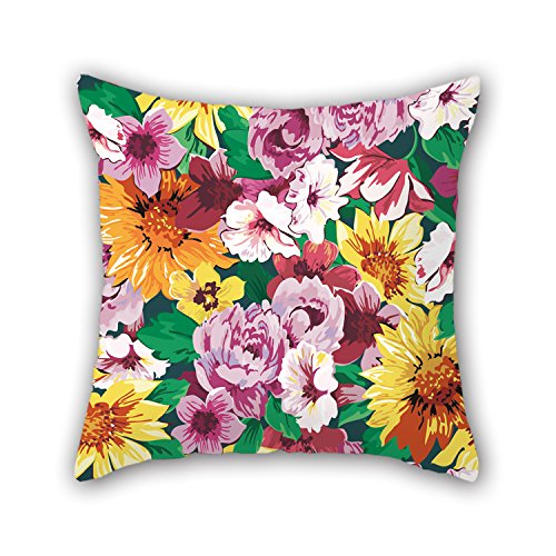 PILLO Pillow Shams 16 X 16 Inches / 40 By 40 Cm(two Sides) Nice Choice For Relatives,sofa,wedding,kids,wedding,valentine Flower