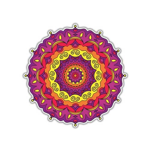 Megan Jewel - Mandala Sticker Jewel Colorful Symbolic Decal by Megan J Designs - Laptop Sticker Tumbler Decal Vinyl Sticker