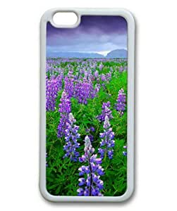Armener iPhone 6 Plus (5.5 inch) White Sides Rubber Shell TPU Case With A Cloud of Lavender