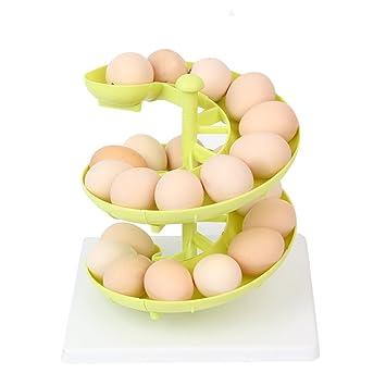 MyLifeUNIT Egg Run Dispensador de huevos para huevos de medianos a grandes, color verde: Amazon.es: Hogar