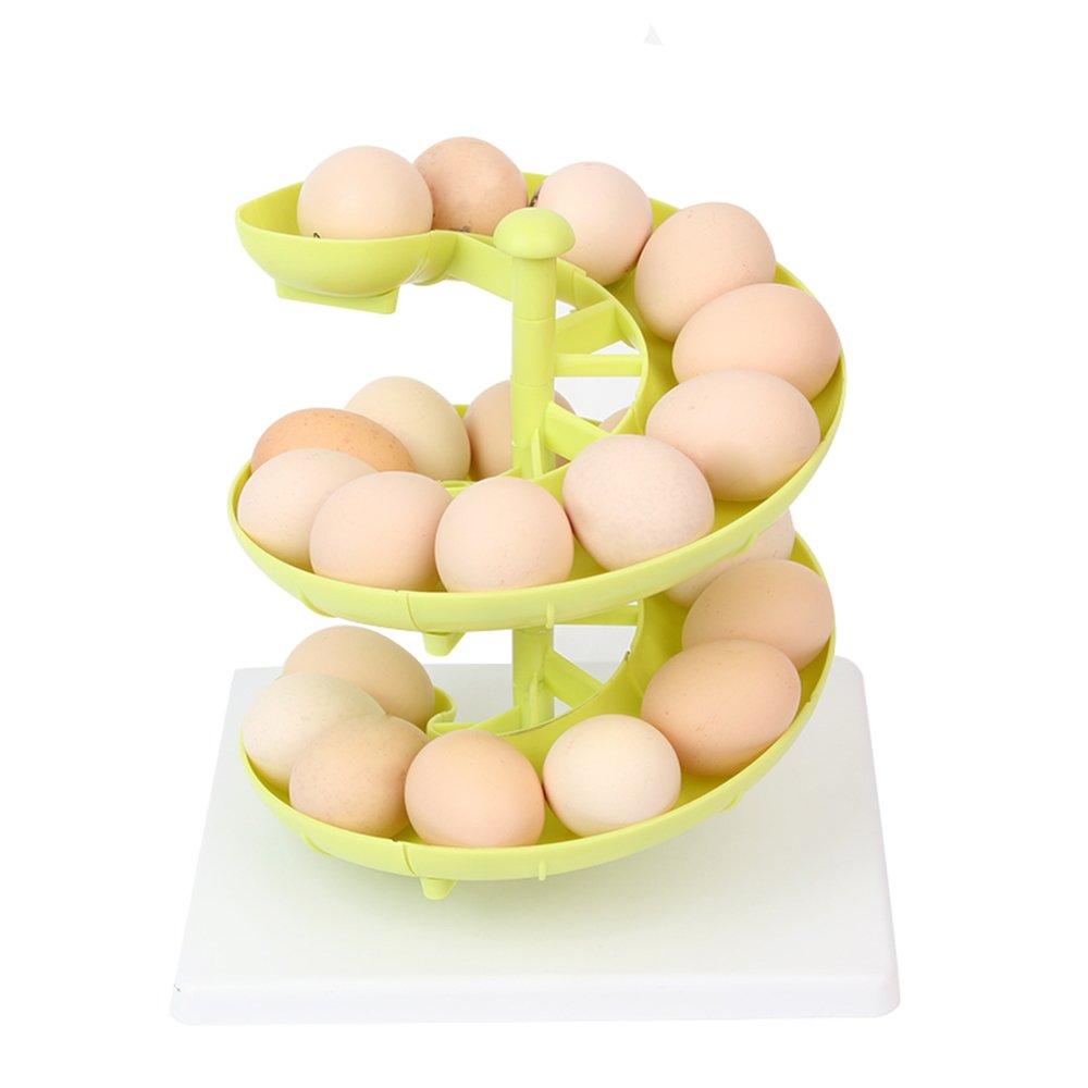 MyLifeUNIT Egg Run Basket Egg Dispenser Holder for Medium to Large Eggs (Green)