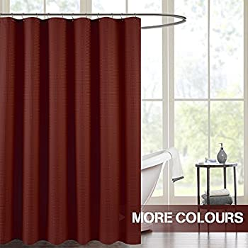 waffle weave shower curtain burgundy 72 inch long water repellent assorted colors