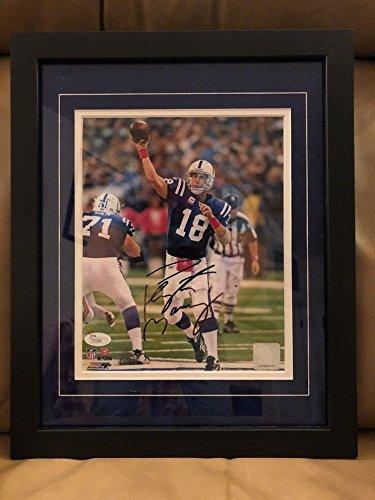 Peyton Manning Signed Autograph Framed Colts Signed Autograph 8x10 Photo JSA Certified (Peyton Manning Signed Framed)
