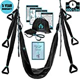 Yoga4You Aerial Yoga Swing Set – Black Yoga Hammock – Trapeze Yoga Kit + Extension Straps & eBook – Wide Flying Yoga Inversion Tool – Antigravity Ceiling Hanging Yoga Sling – Women Men Kids Arial Acro Review