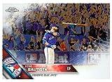 Jose Bautista baseball card (Toronto Blue Jays All Star) 2016 Topps Chrome #191 Bat Flip