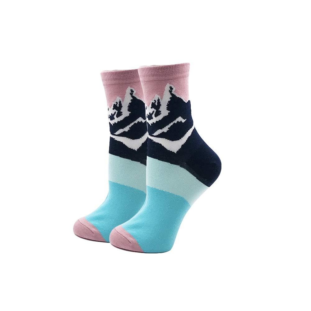 FHCGWZ 5 Teile/Satz Frauen Socken Bunte Lustige Fuchs Brust Berg Fuji Universum Muster Harajuku Socke für Mädchen FHCGEWZ@